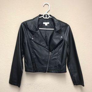 [Xhilaration] Girl's Vegan Leather Cropped Jacket